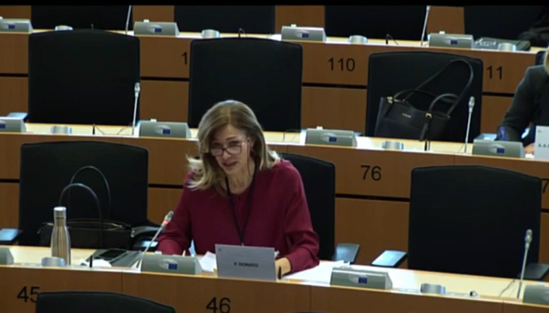 L'europarlamentare Francesca Donato presenta gli emendamenti al Just Transition Fund